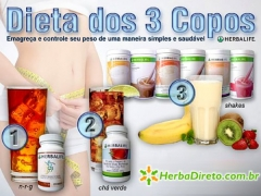 Dieta dos 3 copos em www.herbadireto.com.br