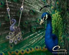 Colar pavão - joias carmine - 10 camadas de  ouro 18k