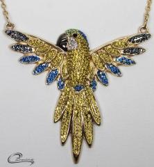 Pingente arara canindé - joias carmine - 10 camadas de ouro 18k