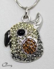 Pingente calopsita - joias carmine - 10 camadas de ouro 18k