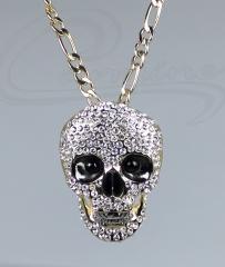 Pingente caveira - joias carmine - 10 camadas de ouro 18k - joias exclusivas