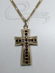 Pingente cruz - joias carmine - 10 camadas de ouro 18k - joias exclusivas