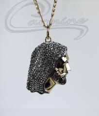 Pingente de cristo - joias carmine - 10 camadas de ouro 18k - joias exclusivas