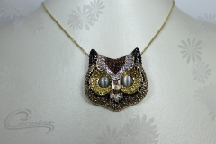 Pingente coruja - joias carmine - 10 camadas de ouro 18k - joias exclusivas