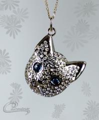 Pingente gato lotti - joias carmine - 10 camadas de ouro 18k - joias exclusivas