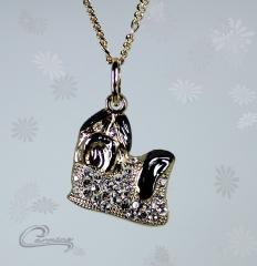 Pingente cão shitzu - joias carmine - 10 camadas de ouro 18k - joias exclusivas
