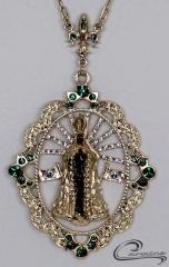Pingente n.s aparecida  joias carmine - 10 camadas de ouro 18k - joias exclusivas