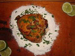 Picanha suína na farofa fria