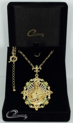 Pingente cristo joias carmine - 10 camadas de ouro 18k - joias exclusivas