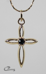 Pingente cruz joias carmine - 10 camadas de ouro 18k - joias exclusivas
