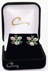 Brincos joias carmine - 10 camadas de ouro 18k - joias exclusivas