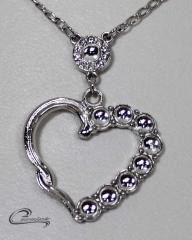 Pingente coração - joias carmine folheado a rodio - um luxo!