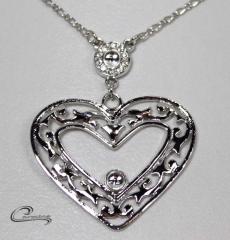 Pingente coração - joias carmine folheado a rodio - joias exclusivas