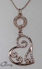 Pingente cora��o - joias carmine 10 camadas de ouro rose 18k - um luxo!