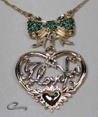 Pingente coração - joias carmine 10 camadas de ouro 18k - um luxo!