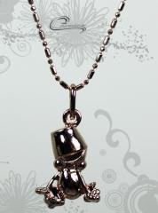 Pingente berloque 3d c/corrente  -10 camadas de ouro rose 18 k joias carmine