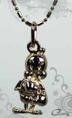 Pingente berloque 3d c/corrente  -10 camadas de ouro 18 k joias carmine