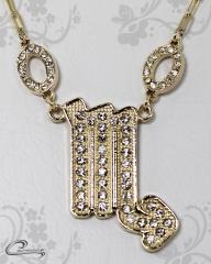 Pingente escorpião zodiaco c/corrente -10 camadas de ouro18 k joias carmine