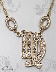 Pingente virgem zodiaco c/corrente -10 camadas de ouro18 k joias carmine