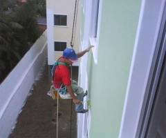 Pintor balancinho, pintor em altura, pintor rapel, reforma de fachadas