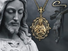 Colar de cristo com corrente - 10 camadas de ouro 18k - joias exclusivas 100% nacional garantia de qualidade!