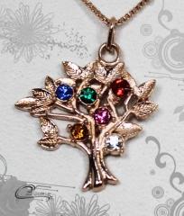 Pingente avore de vida com corrente - 10 camadas de ouro rose 18k - joias carmine