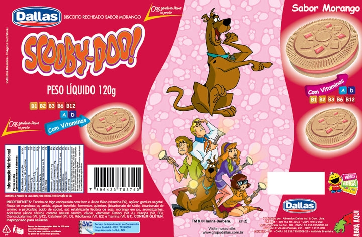 Embalagem Biscoito Recheado Scooby Doo