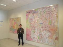Mapa da grande são paulo com ruas em quadro magnético - caixa econômica federal - sp