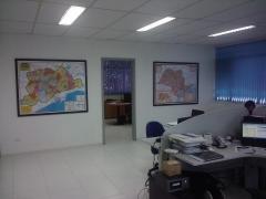 Mapa Grande São Paulo e Estado de São Paulo em Quadro Laminado - Petrobrás - SP
