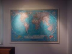 Mapa Mundi Clássico em Paínel de Vidro - Danone - SP