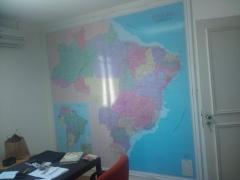 Mapa do brasil comercial em quadro laminado - tecfil - sp