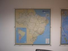 Mapa do Brasil Clássico em Paínel de Acrílico - Votorantim - SP