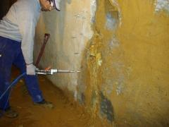 InjeÇÃo em muro de concreto