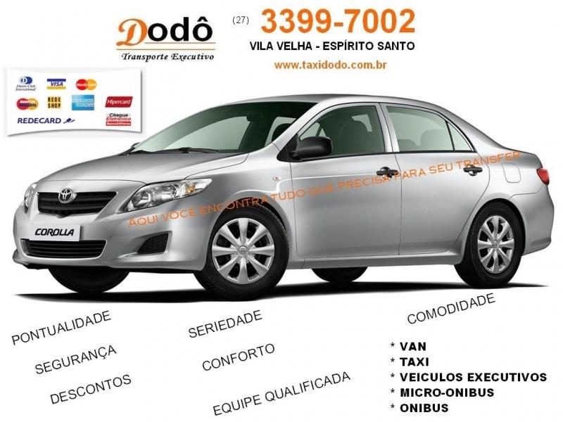 Taxi Aeroporto de Vitoria a Guarapari - Dodo