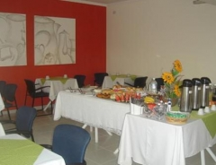 Café da manha do hotel