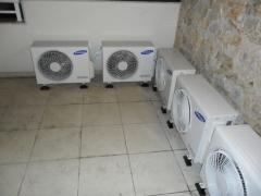 Instalação de 5 condicionadores de ar split inverter samsung condominio pier barra da tijuca