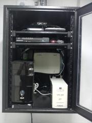 Sistema de monitoramento para 8 câmeras (dvr), central telefônica leucotron e central alarme intelbrás.