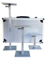 CÁLIBRE PARA CAIXAS, modelo CC-INT/Q, Equipamento desenvolvido para medir as dimensões internas de embalagens (caixa) de papelão ondulado.  Composto por três peças nas seguintes medidas: 120 a 200 mm / 200 á 350 mm / 350 a 650 mm. Os cálibres para  caixas são acondicionados em maleta de alumínio. Atende Normas Técnicas: ABNT NBR 14979 | ASTM D2658-68
