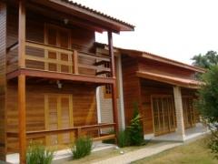 Constru��o de casas de madera