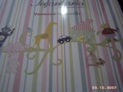Album infantário- papel infantil-modernos e lavaveis-bobinex