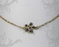 Tornozeleira blaise - joias carmine exclusivas  com 10 camadas de ouro 18k
