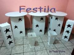 Decoração de festa celan e provençal -festila decorando sua festa