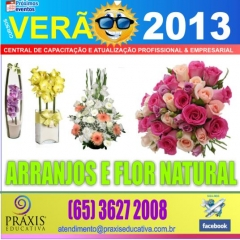 Curso de arranjos de flor natural