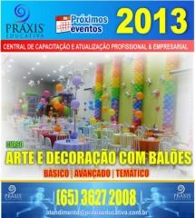 Arte e decoração com balões, básico, avançado e temático
