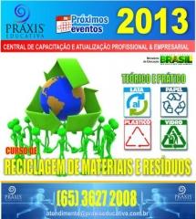Curso de reciclagens de materiais e res�duos