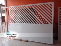 Portão de Alumínio Branco em São Luís