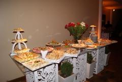 Buffet com coquetel e jantar