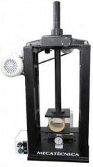 Prensa para compressÃo de tubetes  linha embalagem  equipamento para a determinação da resistência à compressão de tubetes; tipo barra de flexão (mecânica); relógio medidor de força analógico, com carga máxima suportável de 400 kgf. (resolução de 1 kgf); abertura útil entre os pratos até 350 mm.; pratos para compressão nas dimensões de125 x 125 mm.; fornecida em 220 v. trifásico (confirmar voltagem no pedido) acionamento motorizado por inversor de frequência para o rápido posicionamento do prato superior;