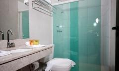 Banheiro do quarto do hotel fazenda