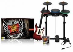 Jogo e acessorios: guitar hero completo (rock band)